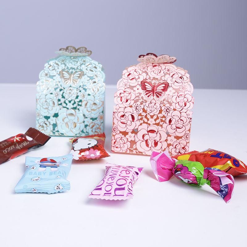 镂空蝴蝶喜糖盒套餐(含糖)