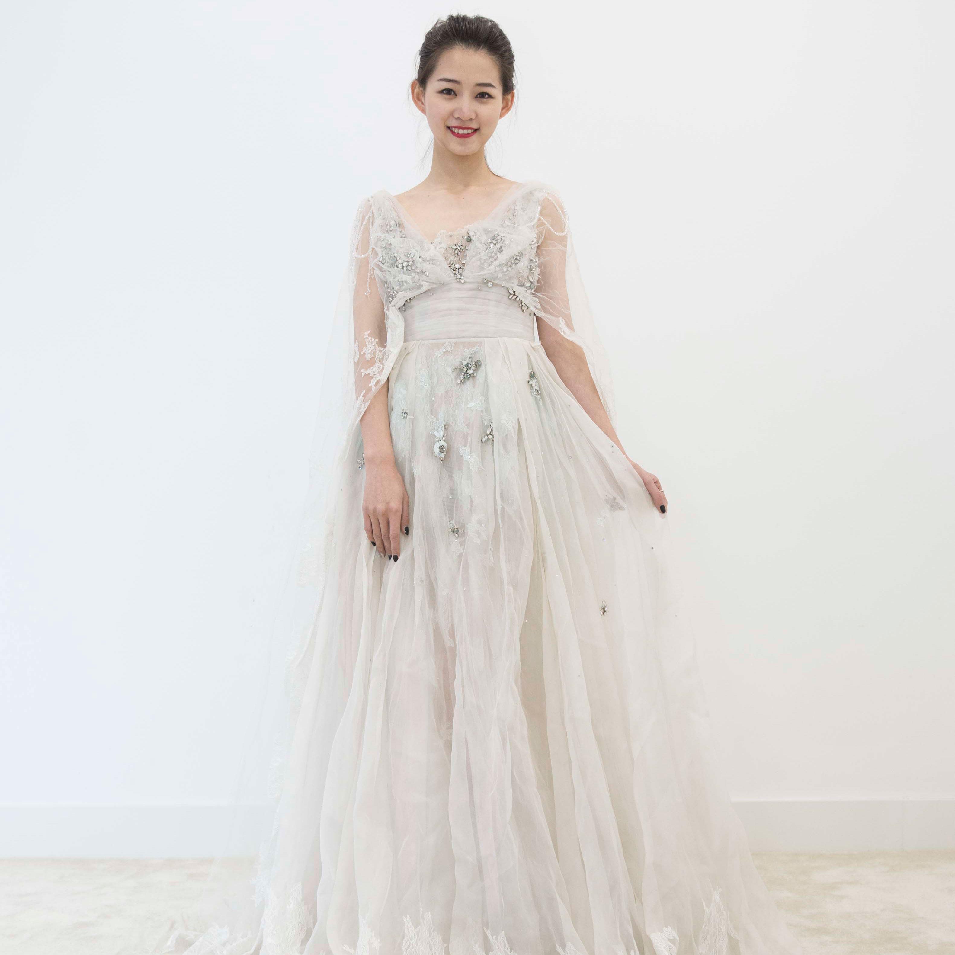真爱殿堂 兰玉 蕾丝 蓬蓬裙婚纱